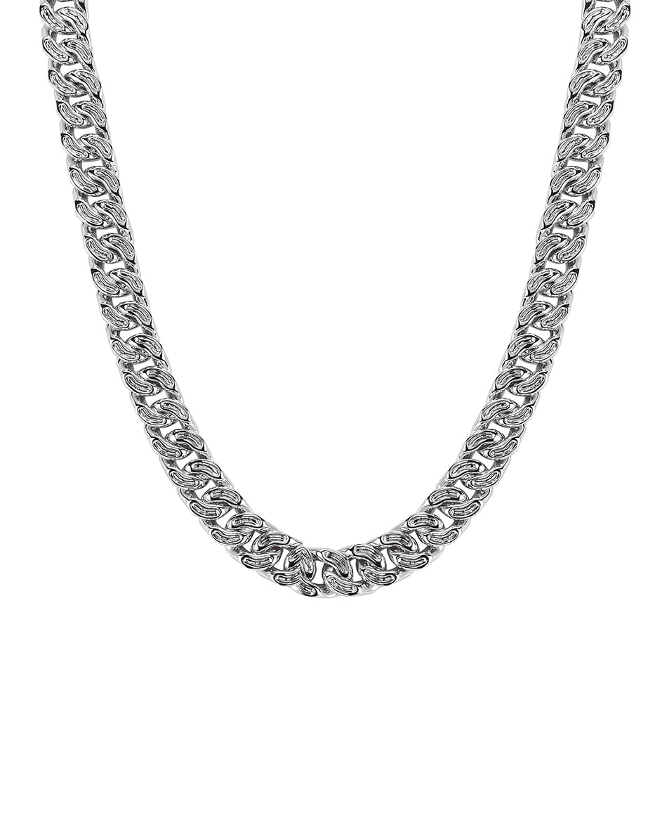 Image 2 of Ambush Classic Chain 7 Necklace in Silver