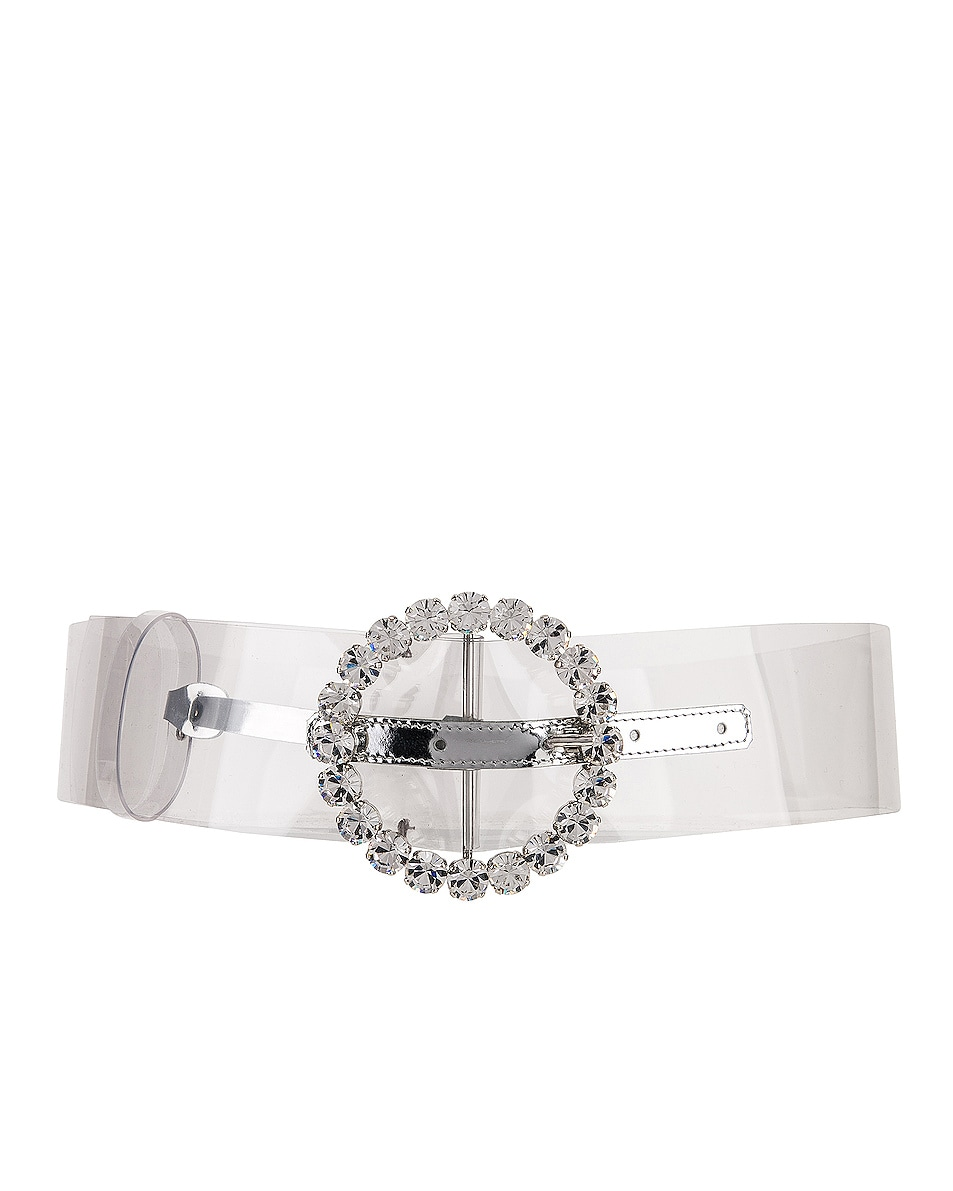 Image 1 of ATTICO Circle Buckle Belt in Clear