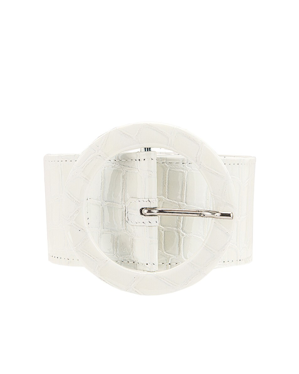 Image 1 of ATTICO Croco Print Belt in White