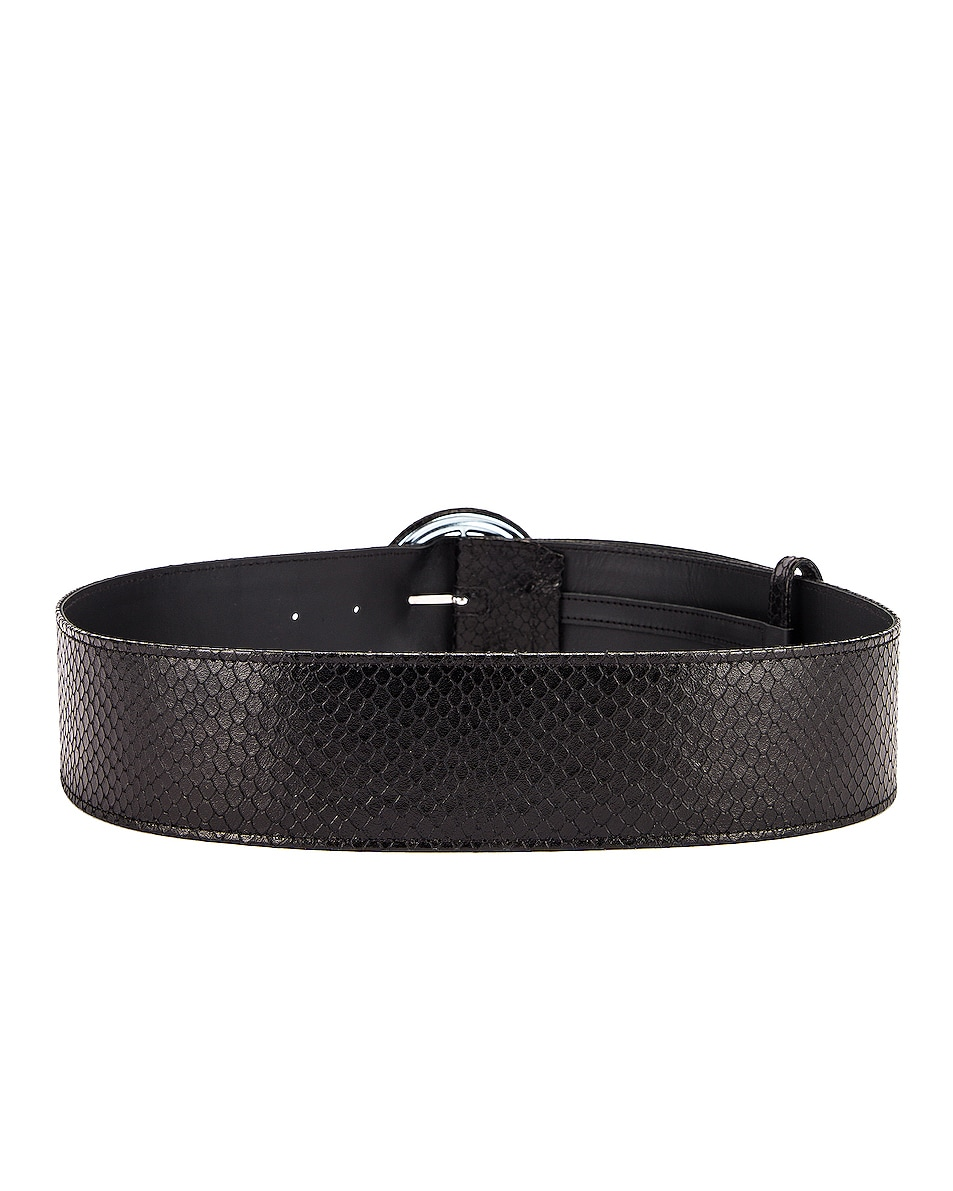 Image 3 of ATTICO Python Print Belt in Black