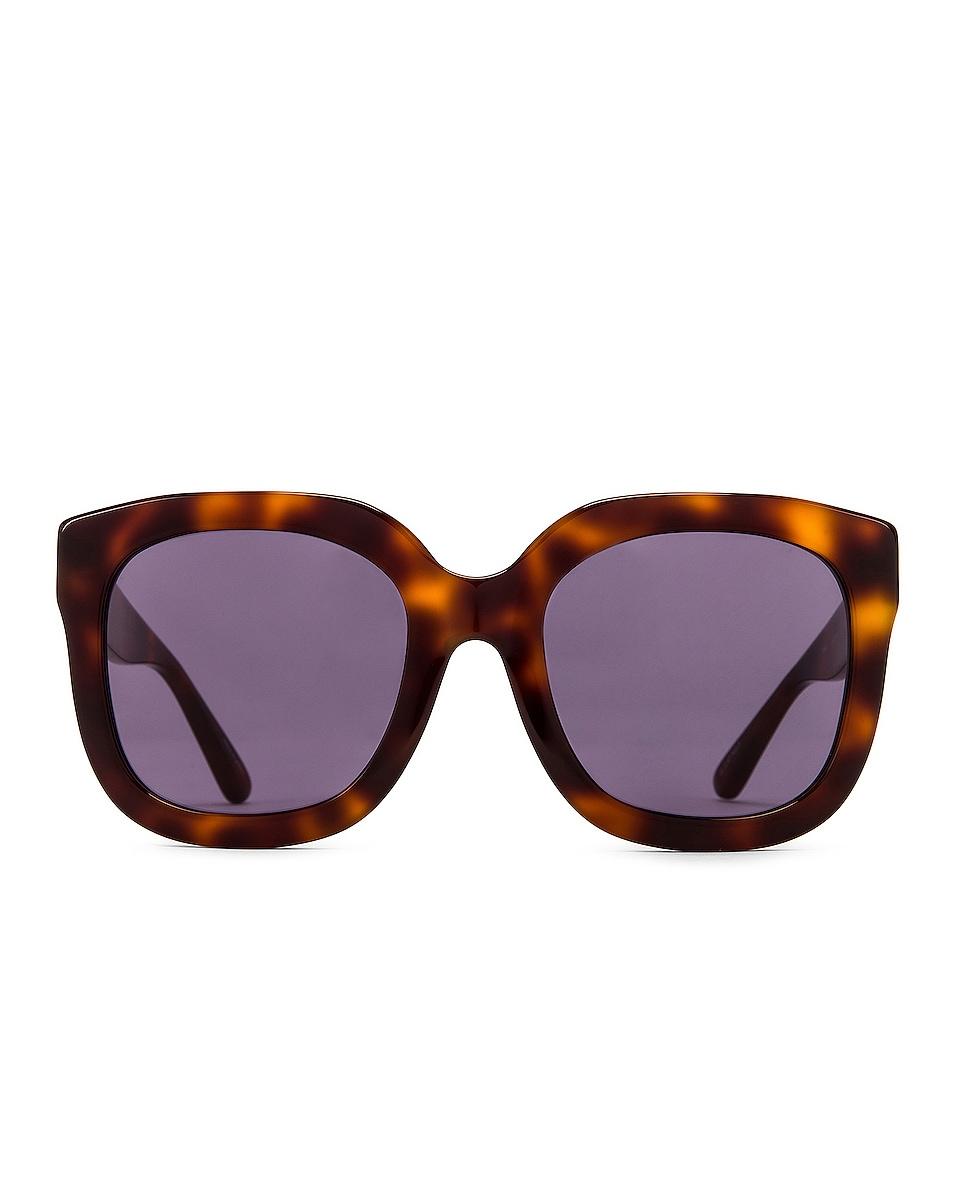 Image 1 of ATTICO Zoe Sunglasses in Tortoise Shell & Gold