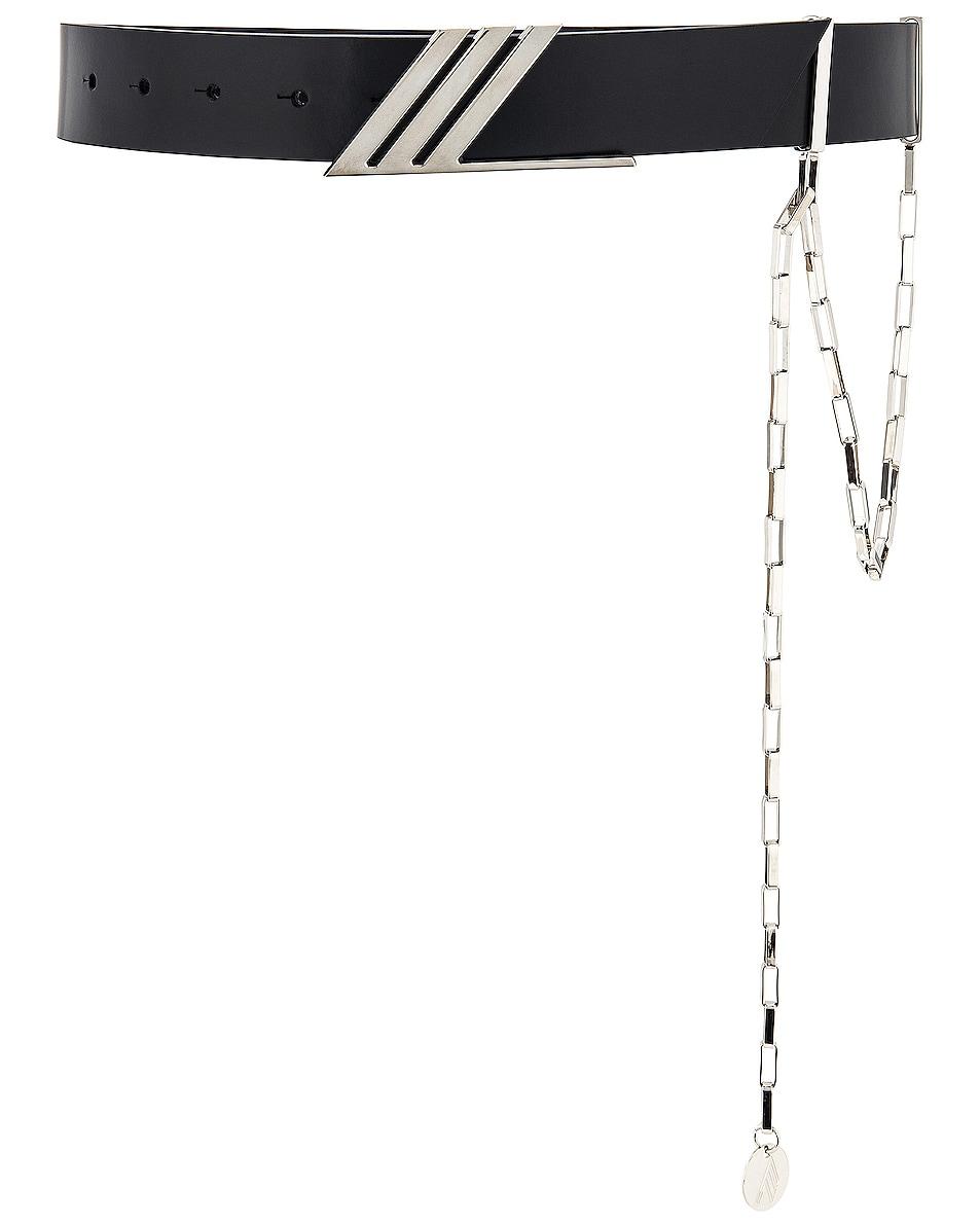 Image 1 of THE ATTICO Idra Belt with Siler Pendant Chain in Black