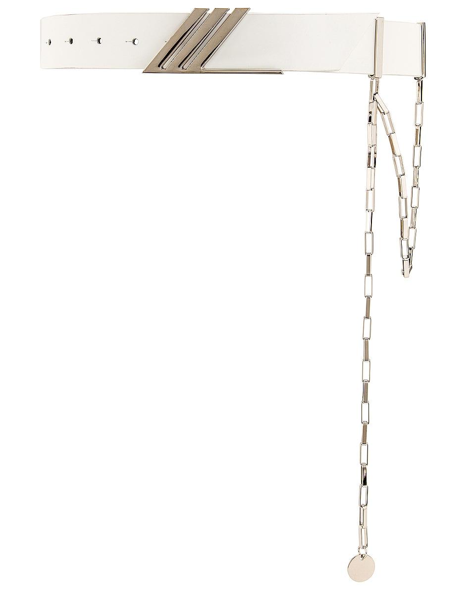 Image 1 of THE ATTICO Idra Belt with Siler Pendant Chain in White