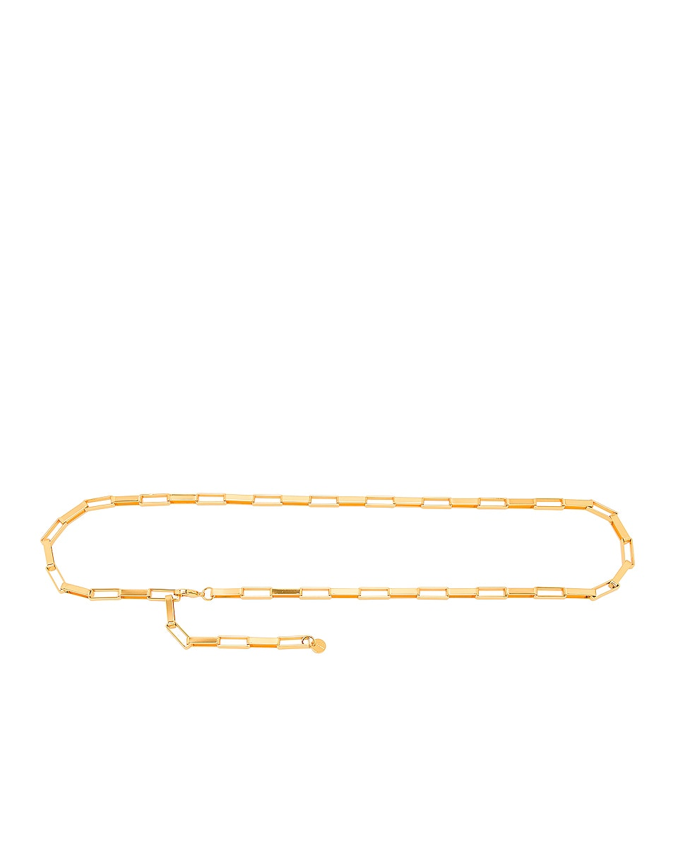 Image 1 of THE ATTICO Chain Belt in Brass Madrid