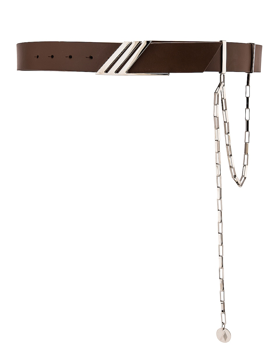 Image 1 of THE ATTICO Chain Detail Belt in Beaver