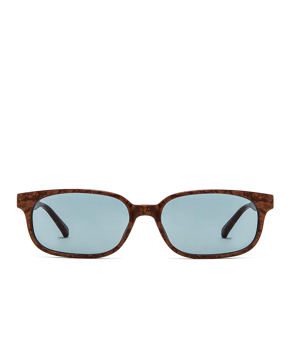 Image 1 of THE ATTICO Gigi Sunglasses in Pearl & Gold & Turquoise