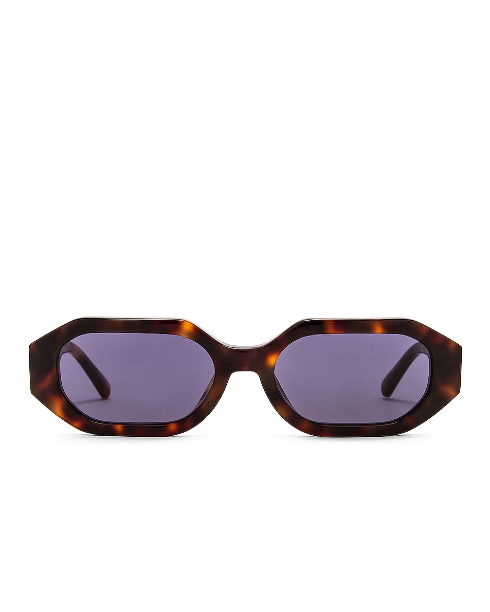 Image 1 of THE ATTICO Irene Sunglasses in Tortoise & Yellow Gold