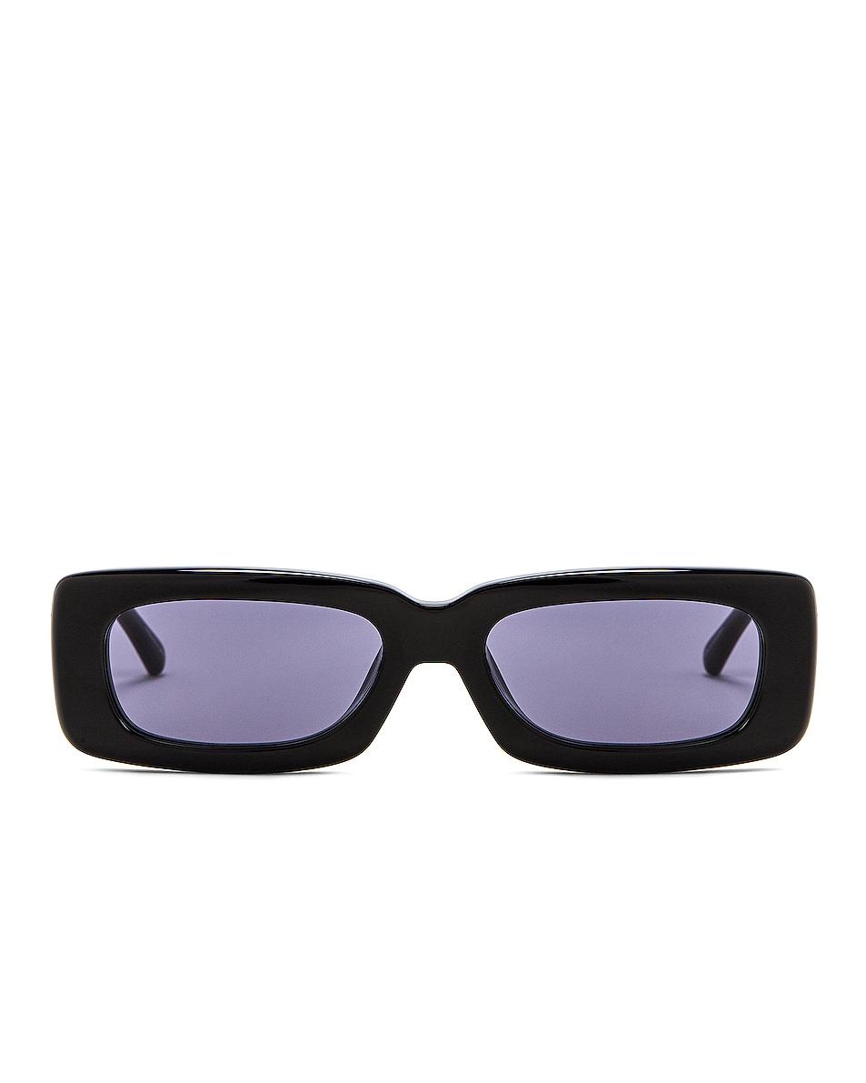 Image 1 of THE ATTICO Mini Marfa Sunglasses in Black