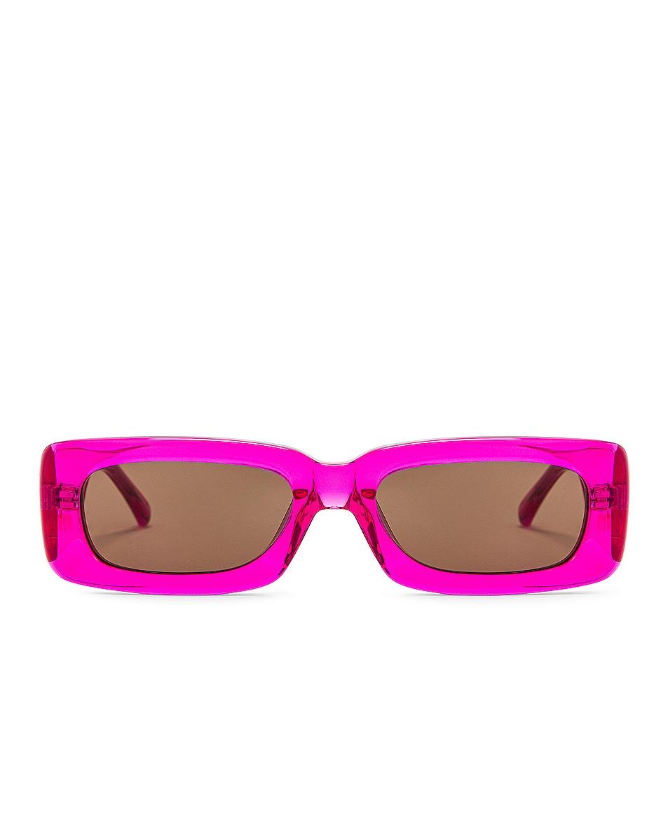 Image 1 of THE ATTICO Mini Marfa Sunglasses in Fuchsia