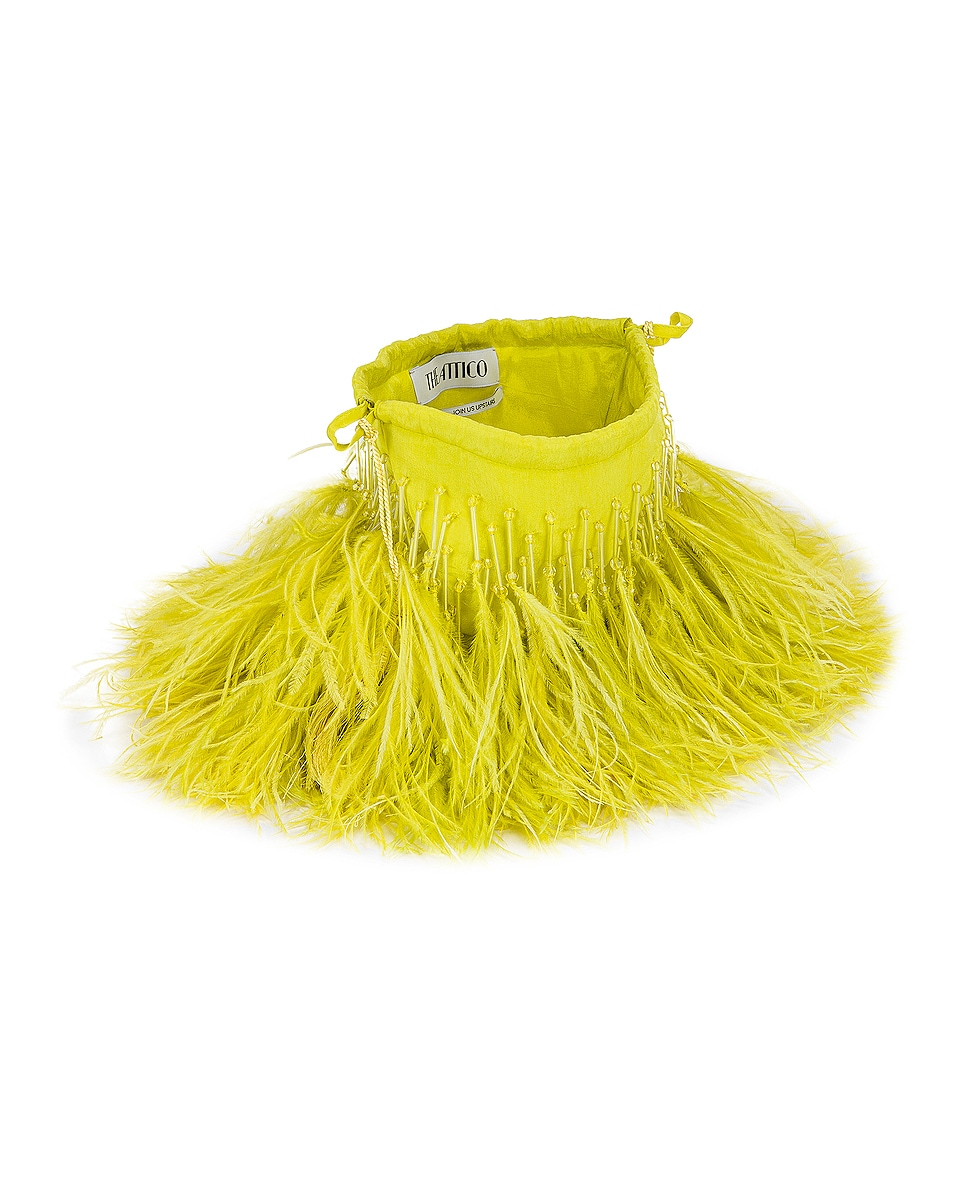 Image 5 of ATTICO Feather Pouch Bag in Lime