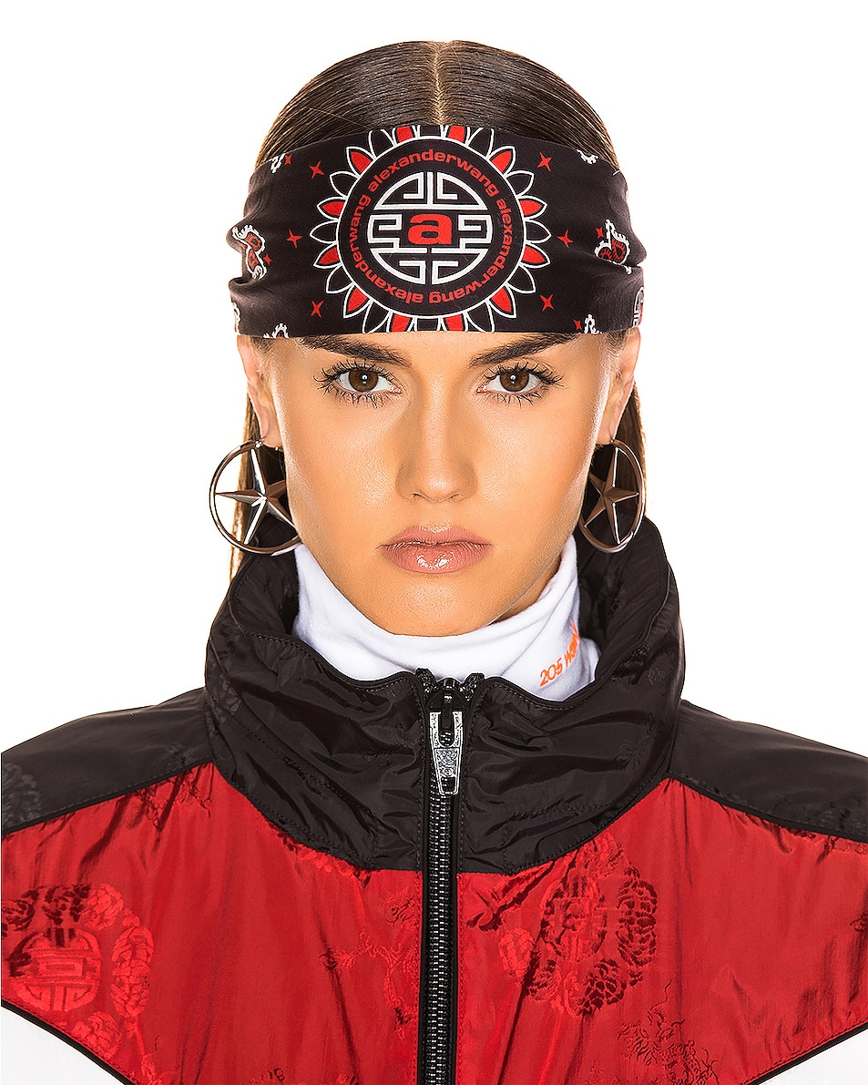Image 3 of Alexander Wang Bandana Headband in Red