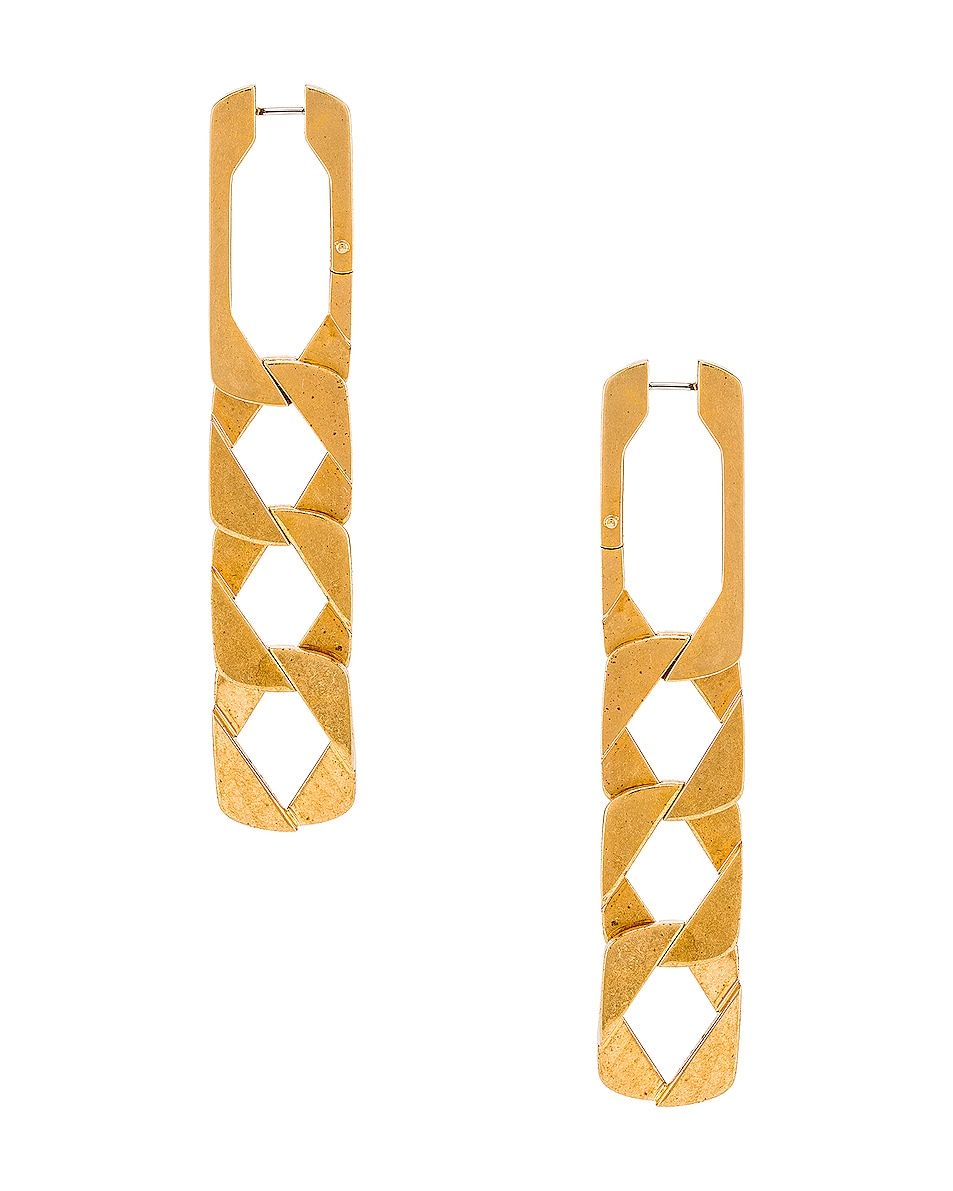 Image 1 of Alexander Wang Drop Chain Earrings in Gold
