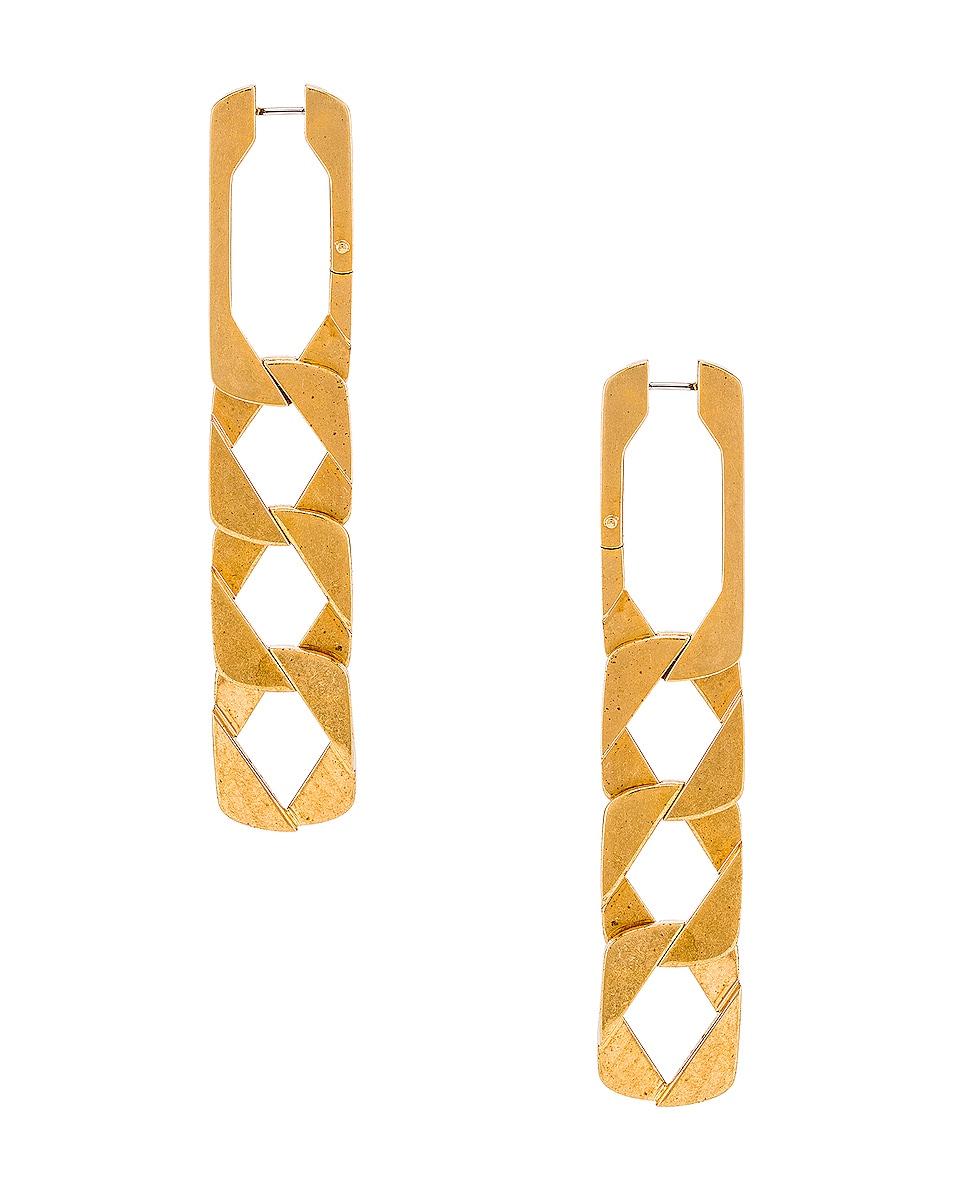 Image 1 of Alexander Wang Drop Chain Earrings in Gold