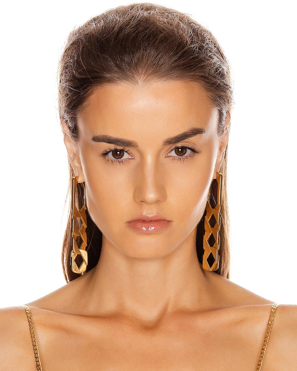 Image 2 of Alexander Wang Drop Chain Earrings in Gold