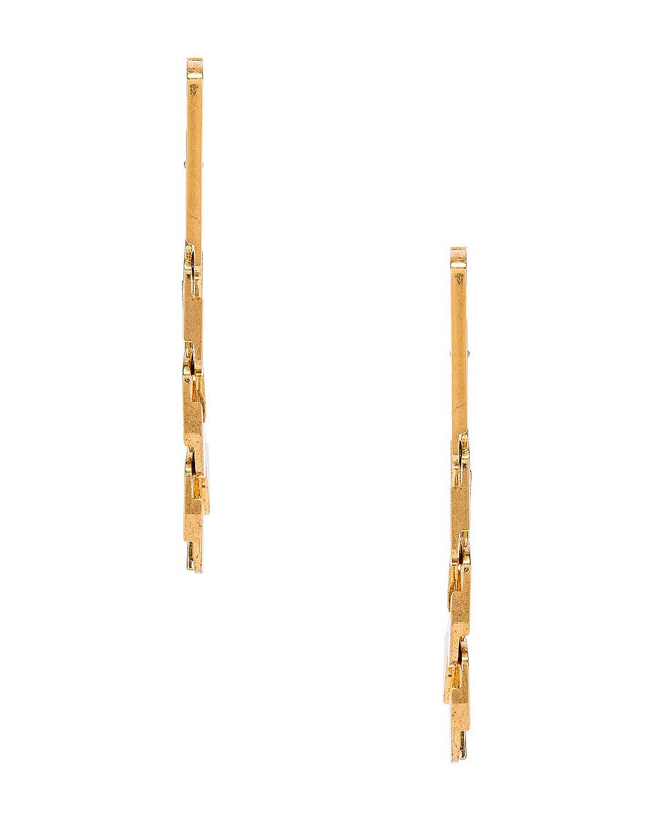 Image 3 of Alexander Wang Drop Chain Earrings in Gold