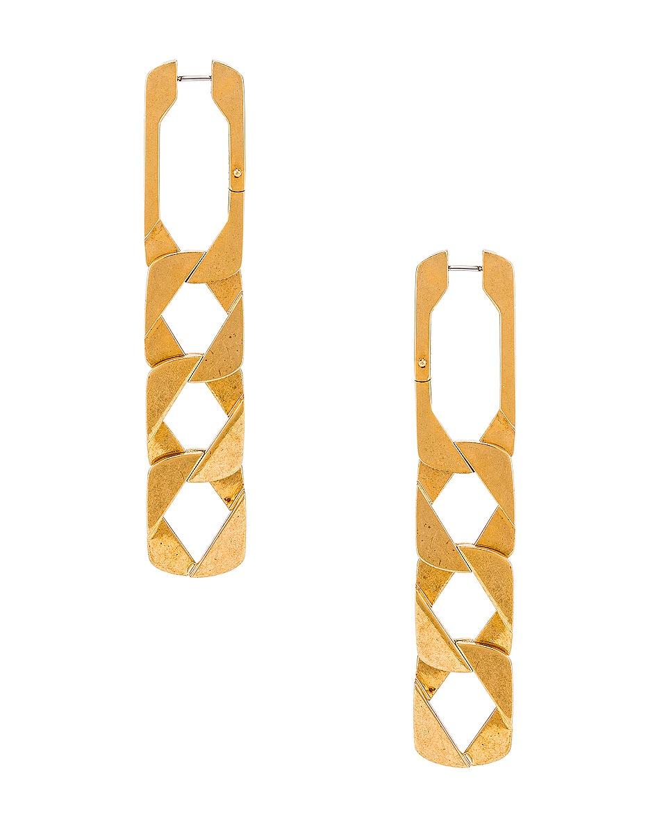 Image 4 of Alexander Wang Drop Chain Earrings in Gold