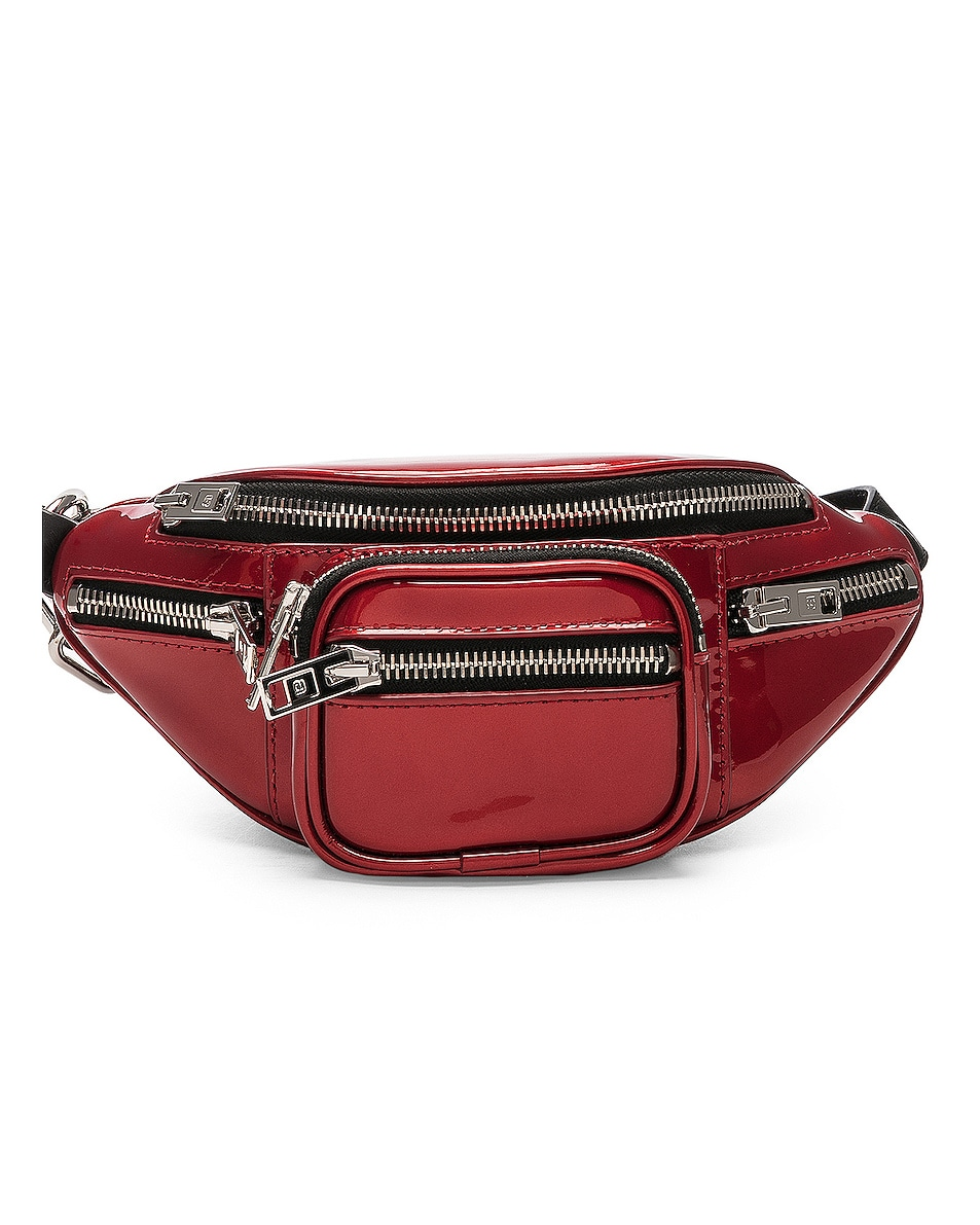 Image 1 of Alexander Wang Attica Patent Mini Fanny Pack in Red