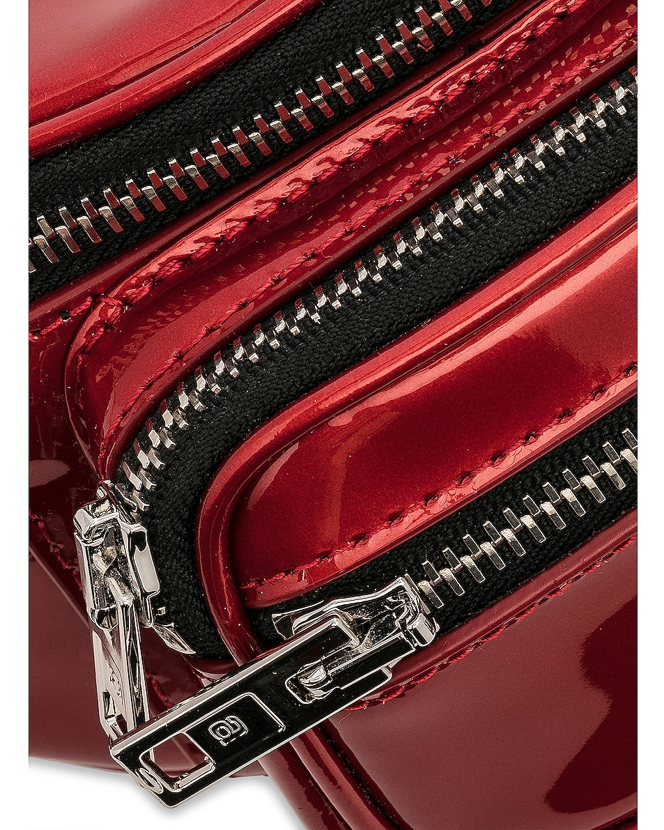 Image 7 of Alexander Wang Attica Patent Mini Fanny Pack in Red