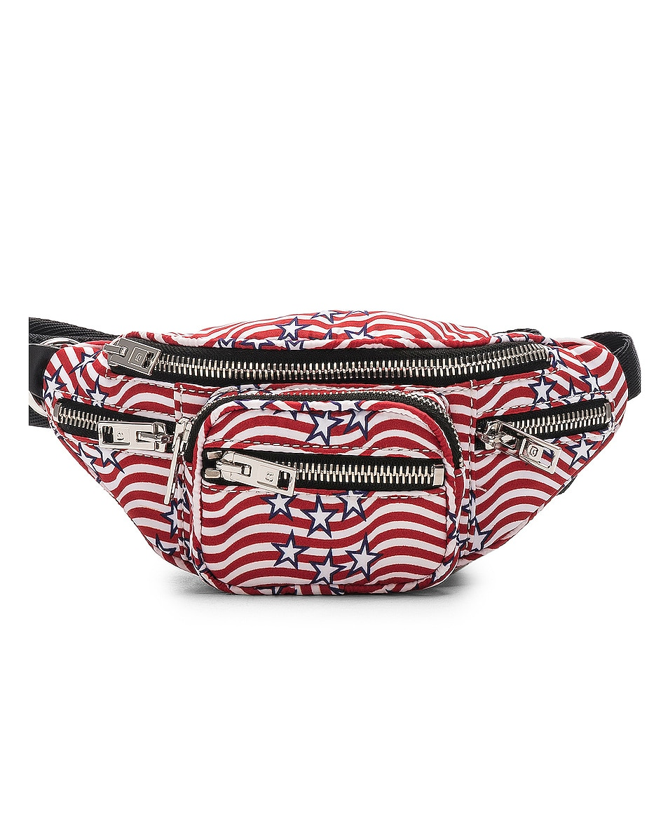 Image 1 of Alexander Wang Attica Stars and Stripes Mini Fanny Pack in Multi