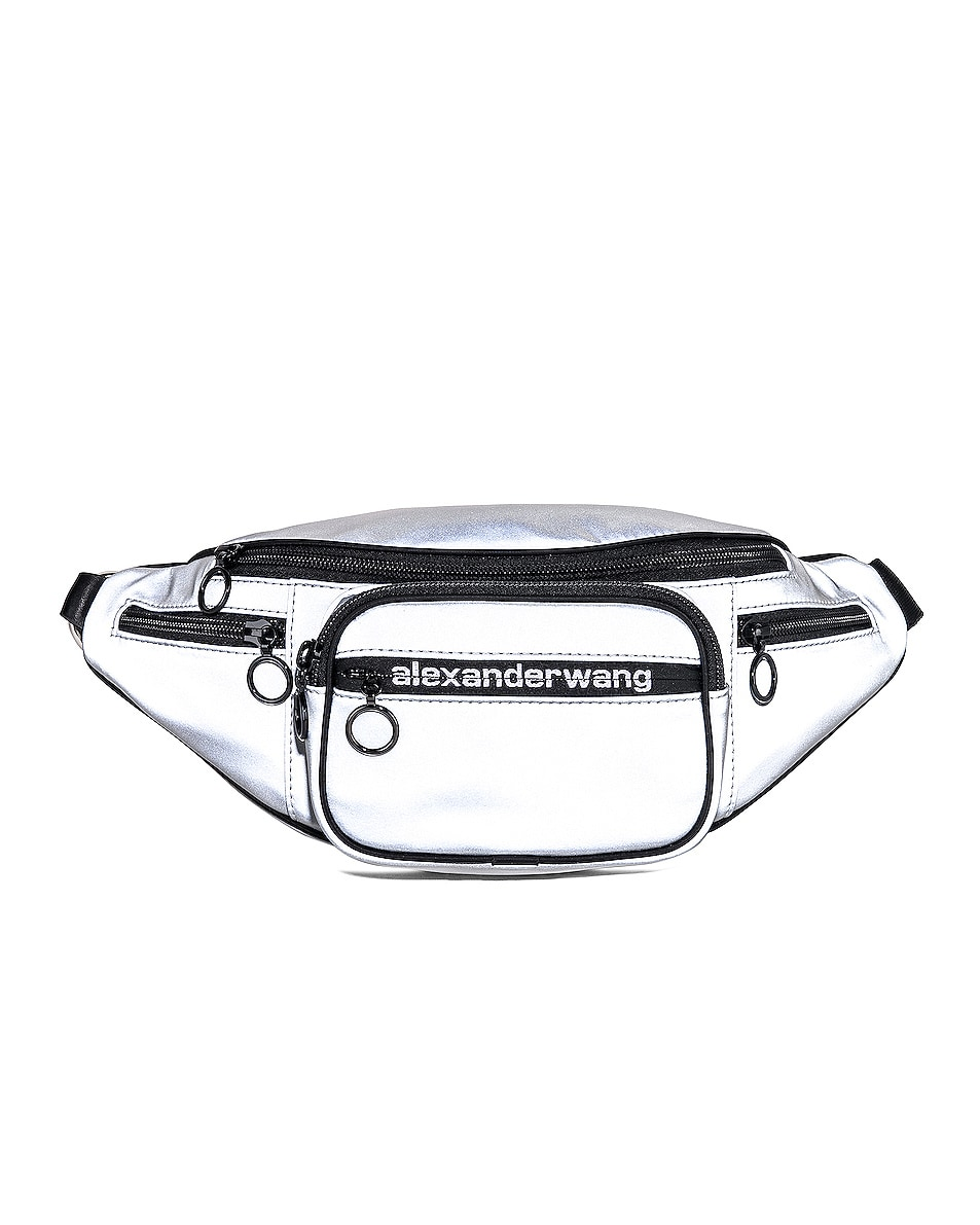 Image 1 of Alexander Wang Attica Soft Fanny Pack in Reflective Silver