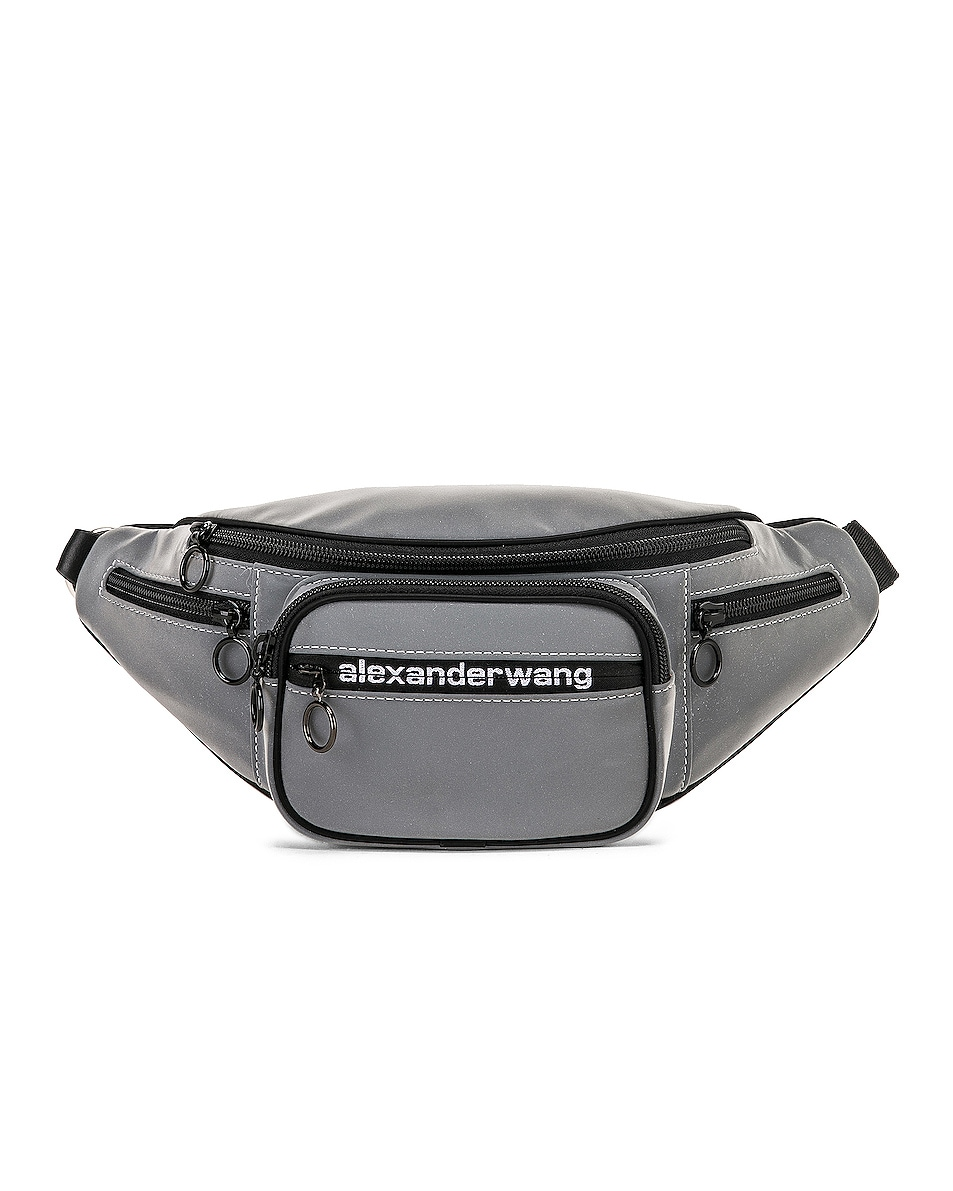 Image 3 of Alexander Wang Attica Soft Fanny Pack in Reflective Silver