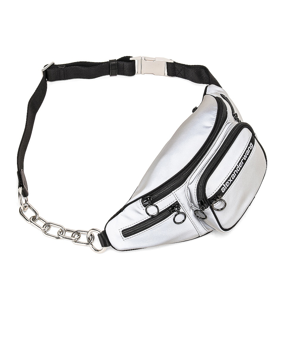 Image 4 of Alexander Wang Attica Soft Fanny Pack in Reflective Silver