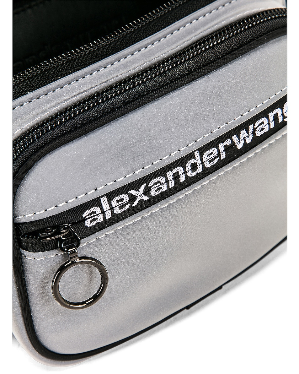 Image 7 of Alexander Wang Attica Soft Fanny Pack in Reflective Silver