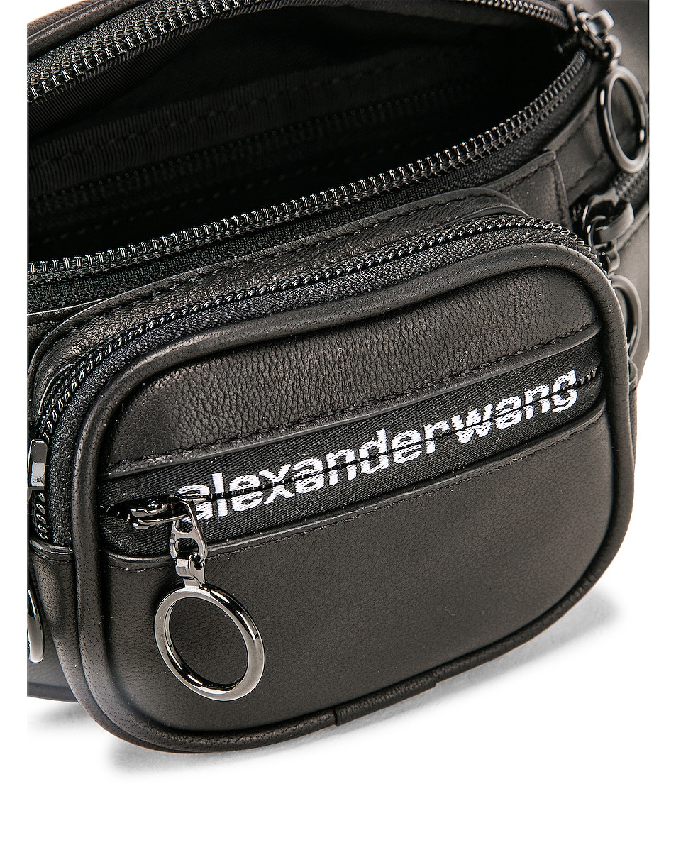 Image 6 of Alexander Wang Attica Soft Mini Fanny Crossbody Bag in Black