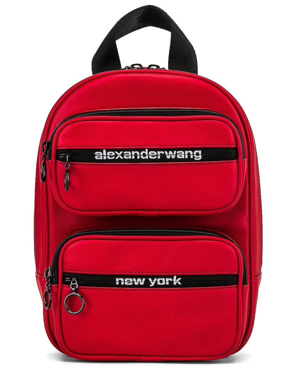 Image 1 of Alexander Wang Attica Soft Medium Backpack in Red