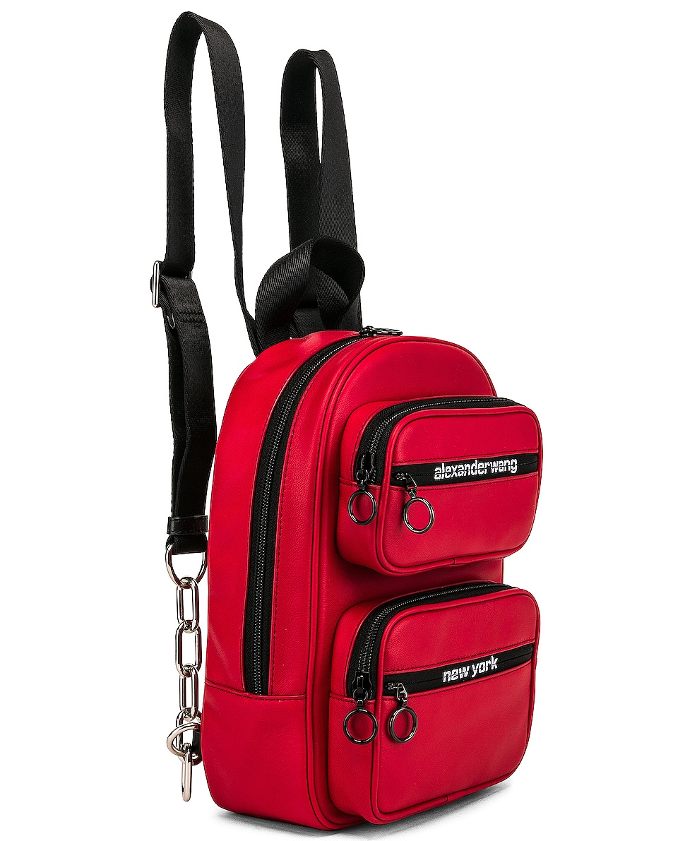 Image 4 of Alexander Wang Attica Soft Medium Backpack in Red