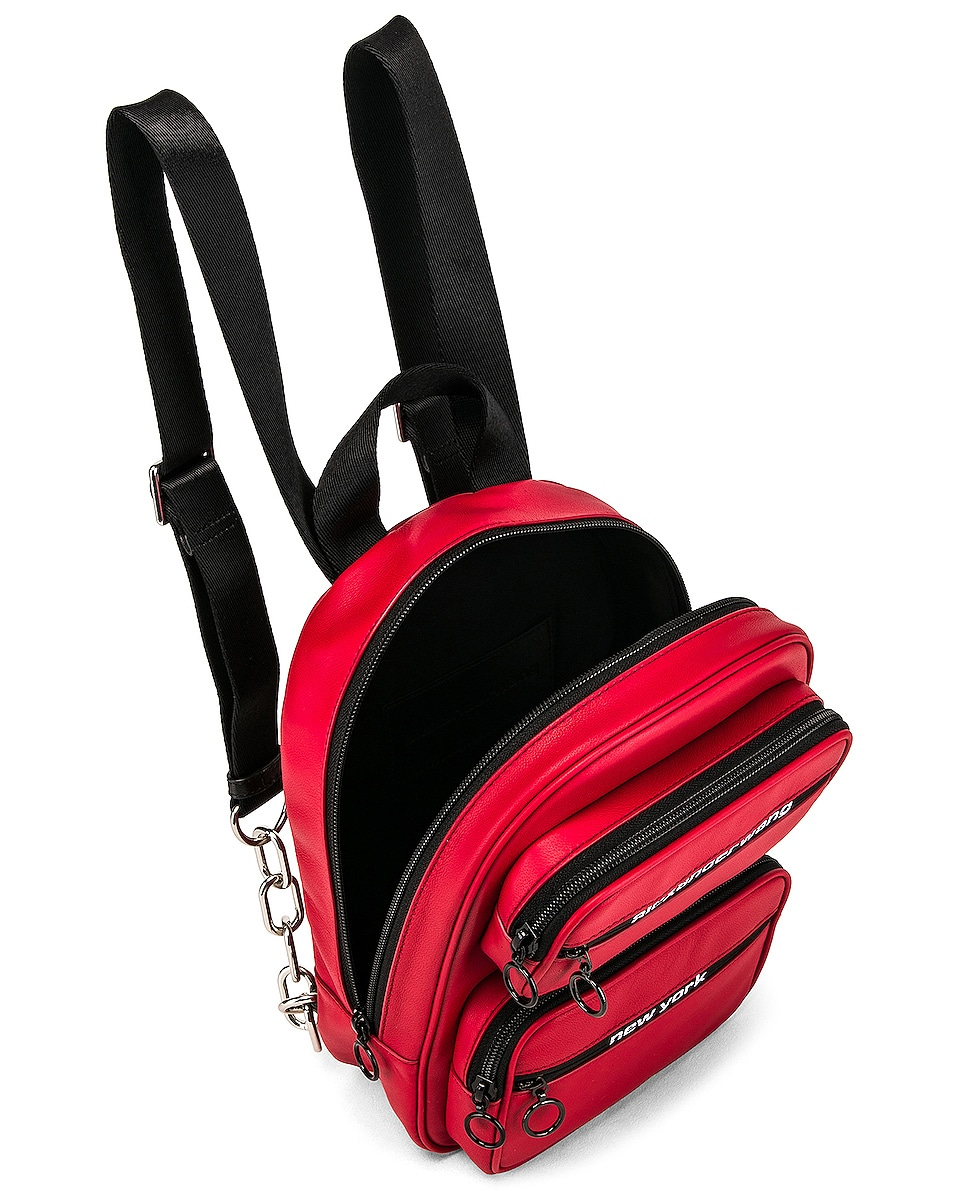 Image 5 of Alexander Wang Attica Soft Medium Backpack in Red