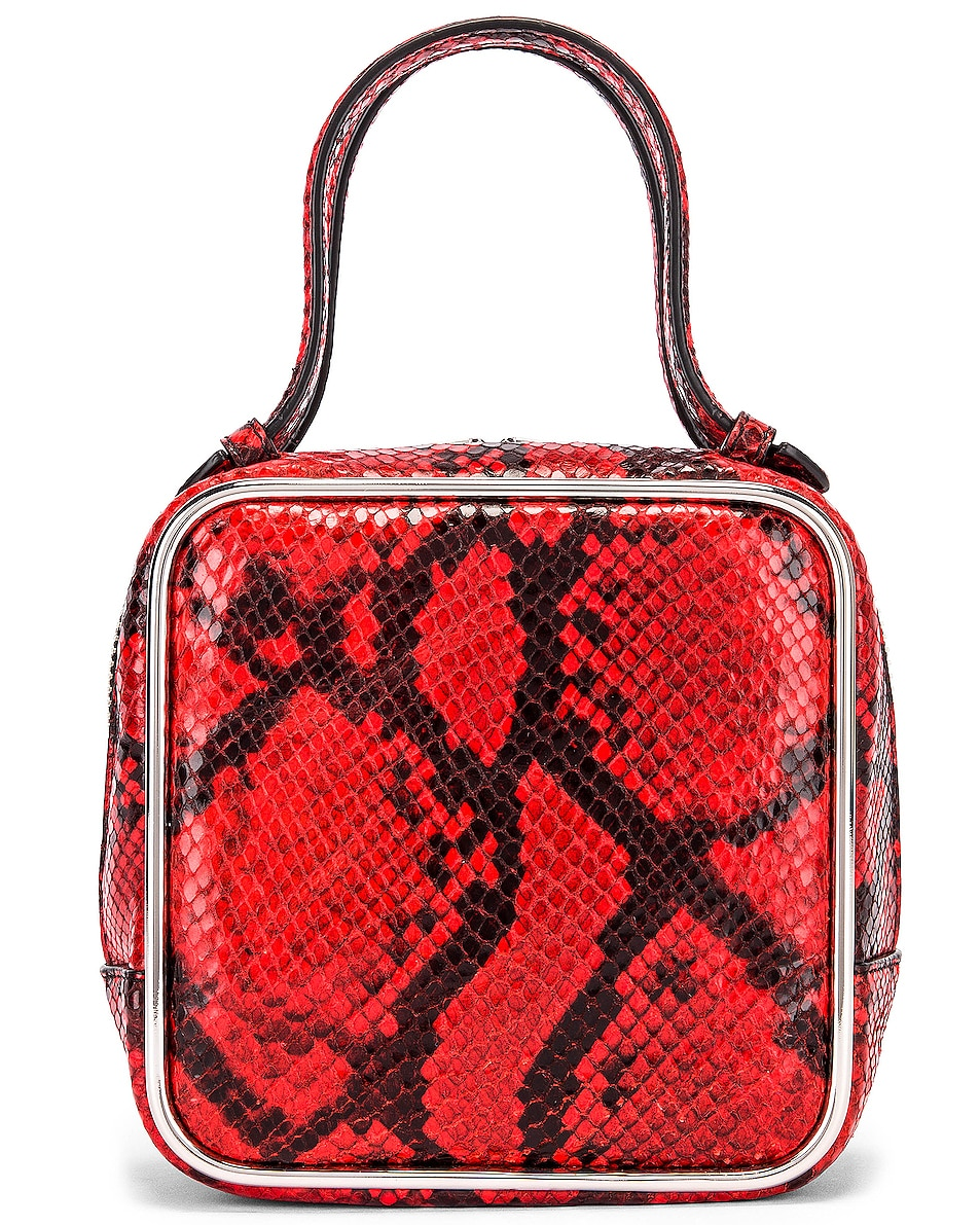 Image 1 of Alexander Wang Halo Top Handle Snake Print Bag in Red
