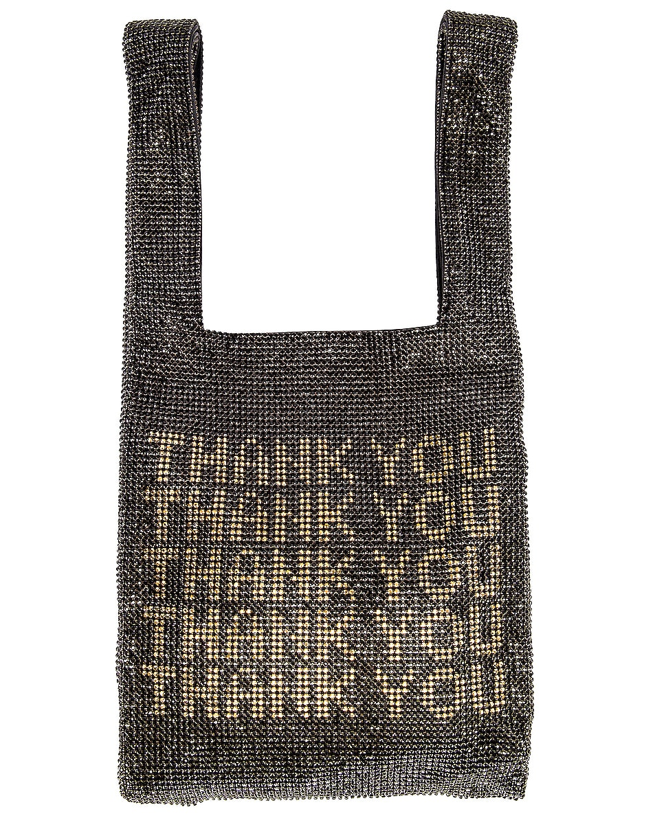 Image 1 of Alexander Wang Wanglock Thank You Mini Shopper in Black