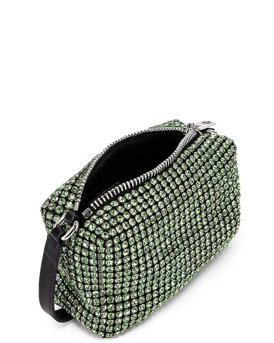 Image 5 of Alexander Wang Medium Pouch Rhinestone Mesh Bag in Peridot
