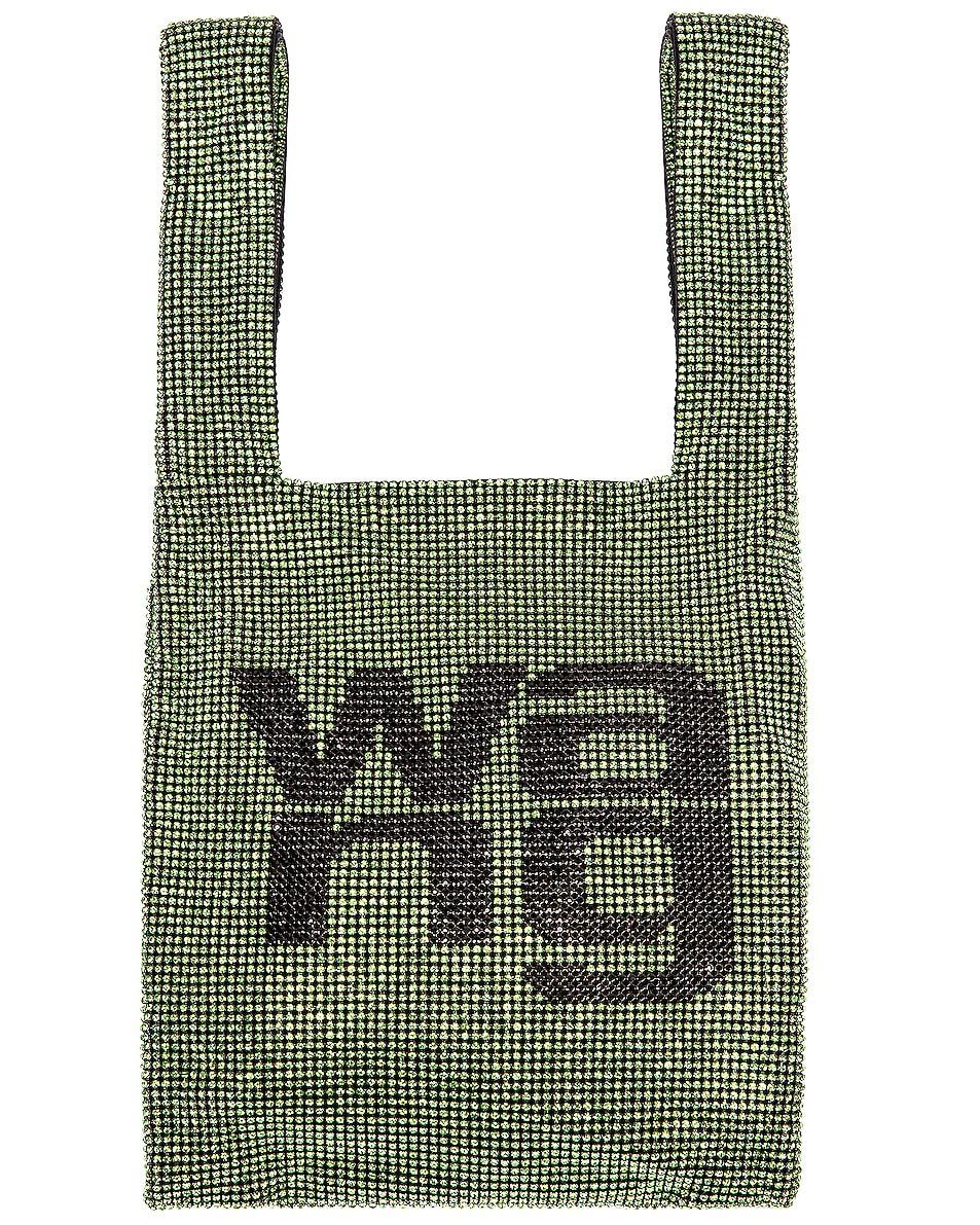 Image 1 of Alexander Wang Wanglock Mini Shopper Mesh Bag in Peridot