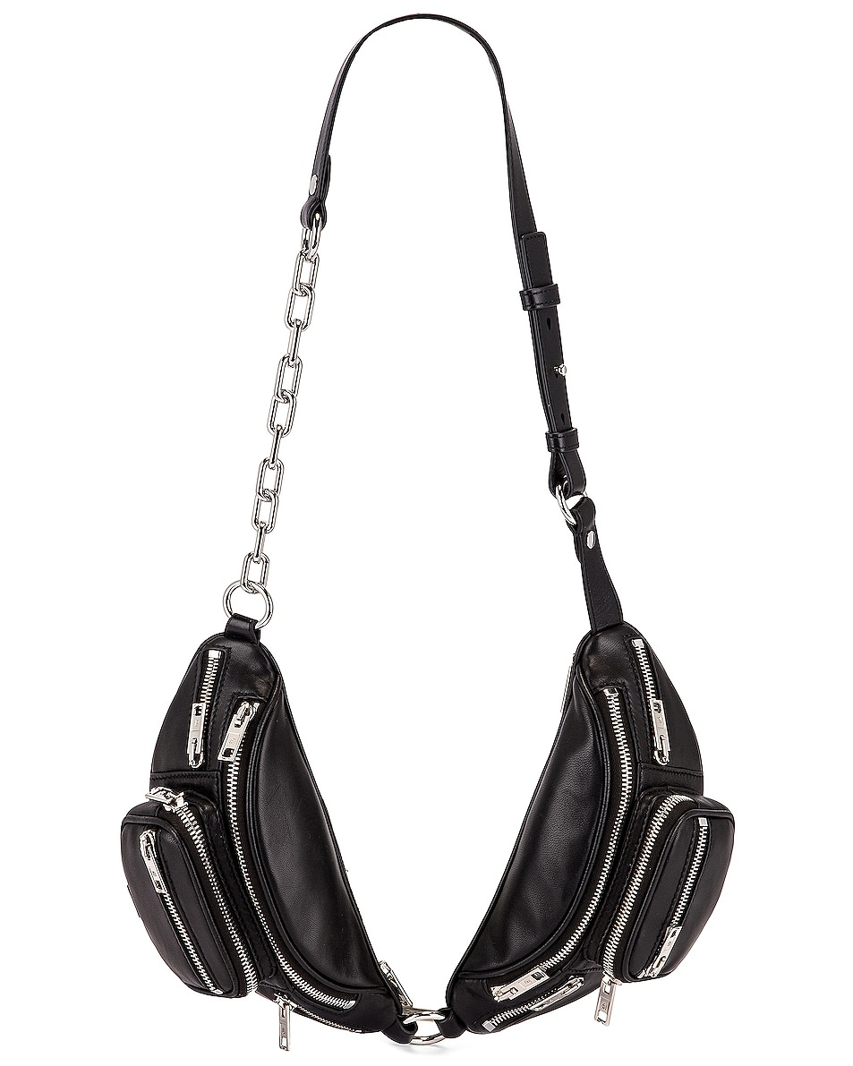Image 1 of Alexander Wang Attica Soft Double Mini Fanny Pack in Black
