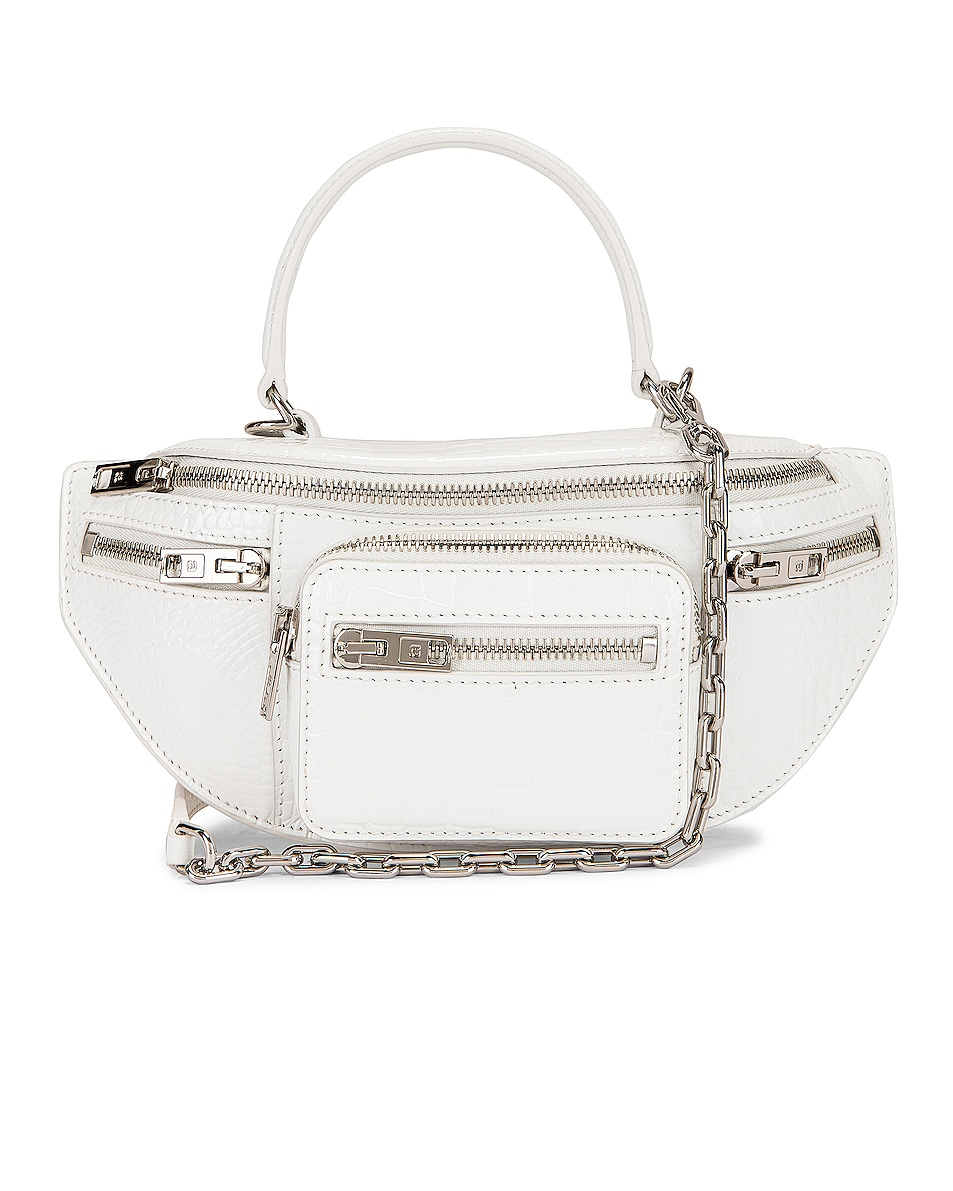 Image 1 of Alexander Wang Attica Soft Mini Top Handle Bag in White