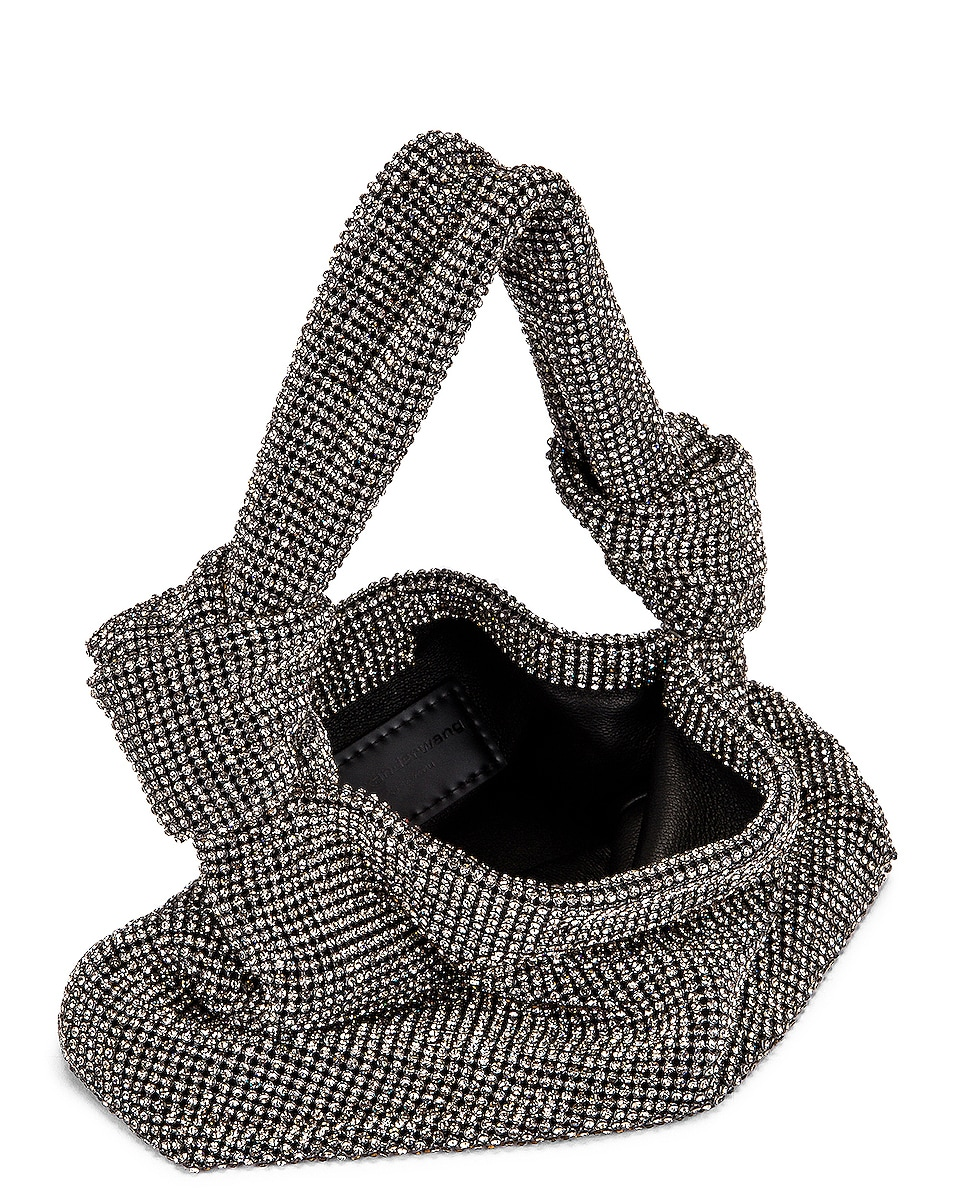 Image 4 of Alexander Wang Wangloc Knot Pouch Bag in Black