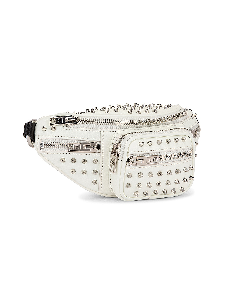 Image 4 of Alexander Wang Attica Soft Mini Fanny Crossbody Bag in White