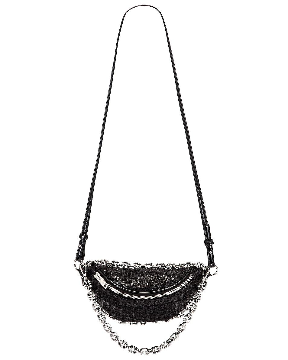 Image 1 of Alexander Wang Attica Soft Hybrid Tweed Fanny Pack in Black