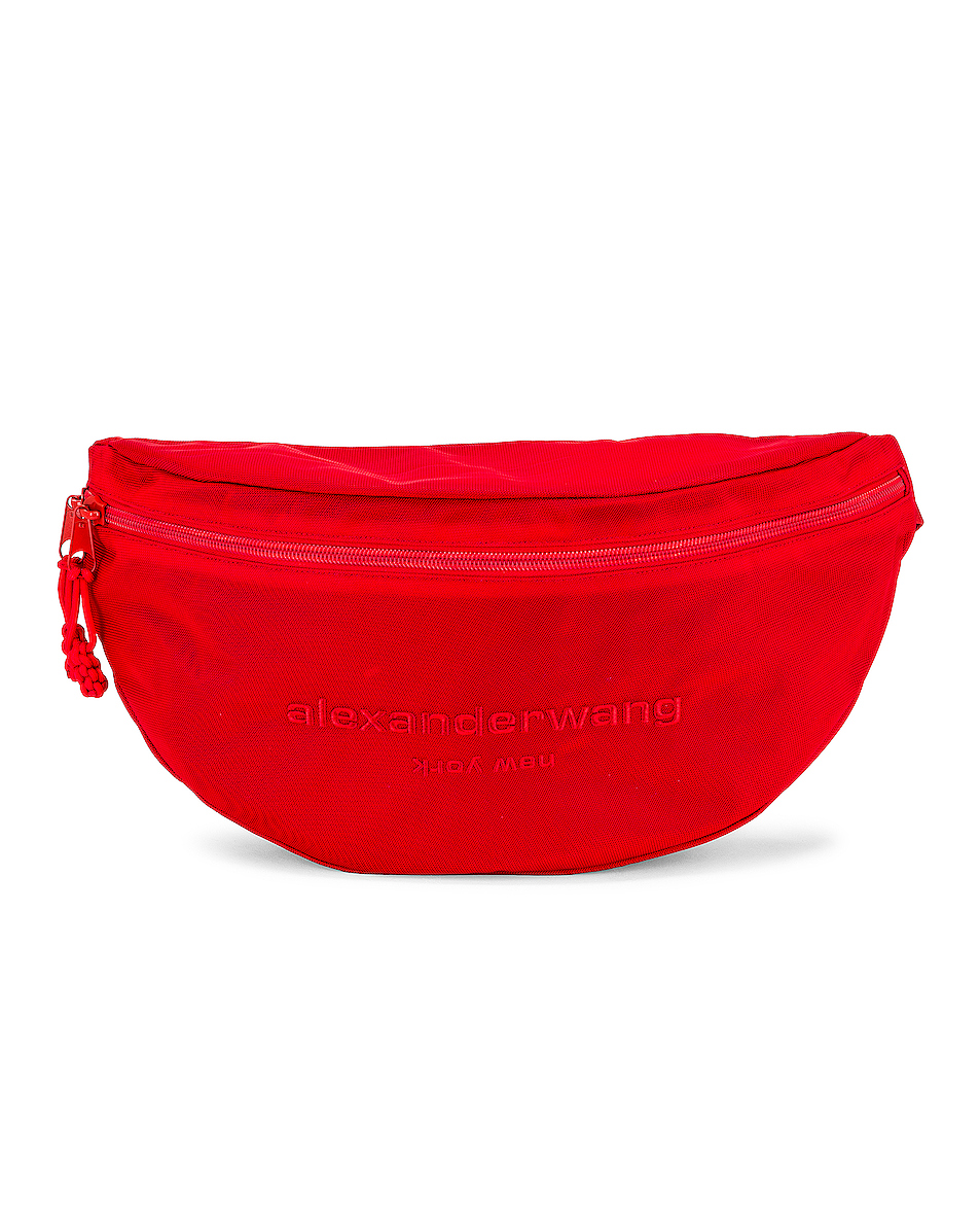 Image 1 of Alexander Wang Attica Gym Fanny Pack in Bright Red