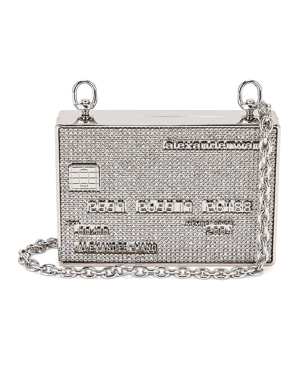 Image 1 of Alexander Wang Wangloc Minaudiere Bag in Metallic Silver