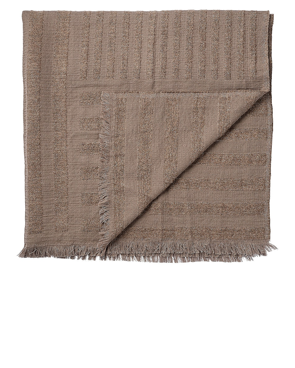 Image 1 of AYTM Contra Throw Blanket in Taupe