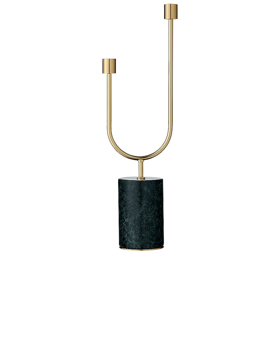 Image 1 of AYTM Grasil Candle Holder in Forest & Gold