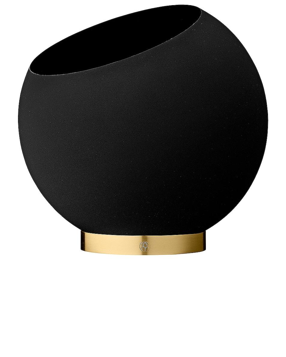 Image 1 of AYTM Medium Globe Flower Pot in Black