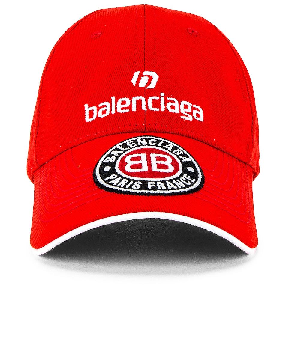 Image 1 of Balenciaga Soccer Cap in Red