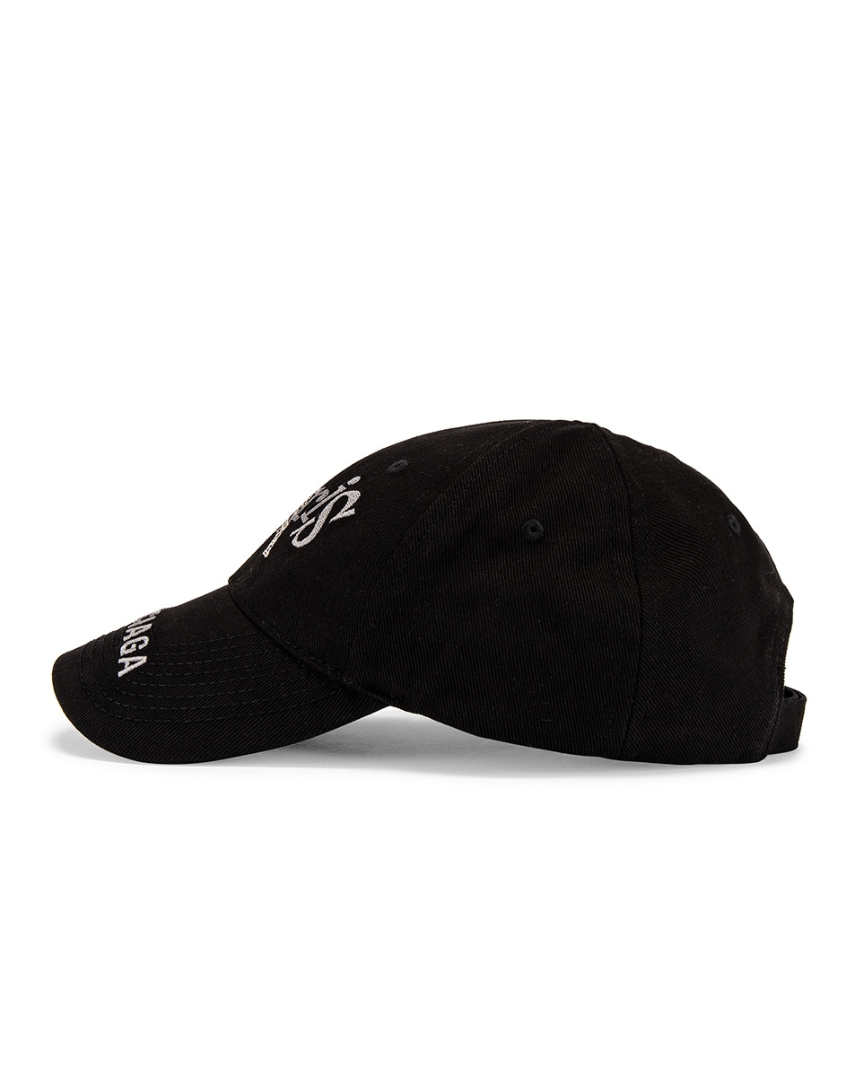 Image 3 of Balenciaga Paris Tower Adjustable Cap in Black