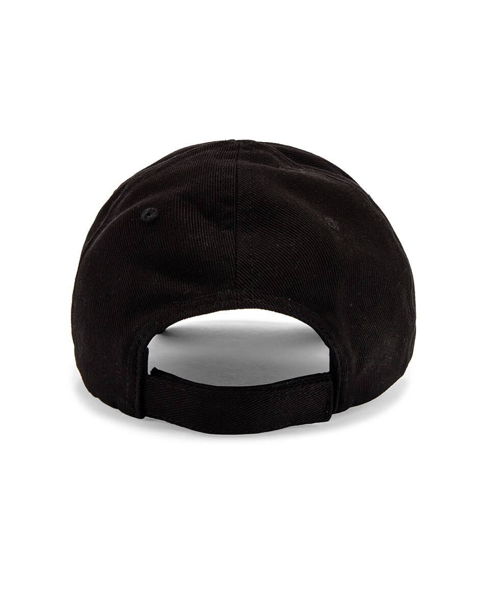 Image 4 of Balenciaga Paris Tower Adjustable Cap in Black