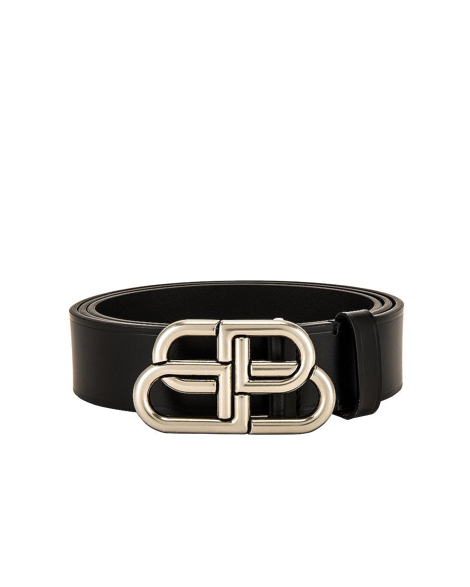 Image 1 of Balenciaga BB Large Belt in Black