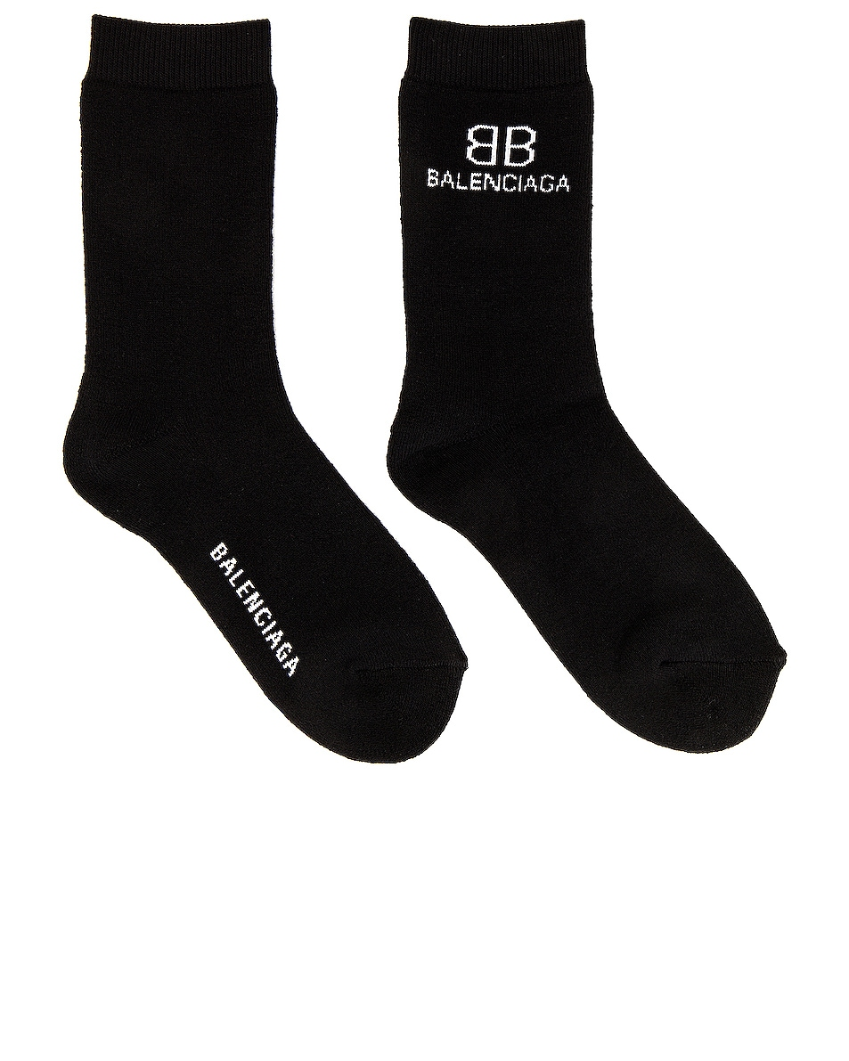 Image 1 of Balenciaga BB Socks in Black